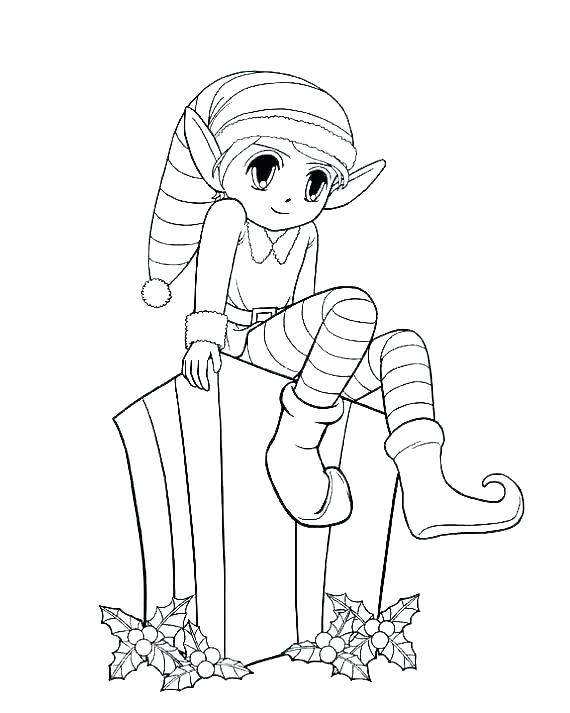 570x713 Elf On Shelf Coloring Pages Elf On The Shelf Color Pages Printable