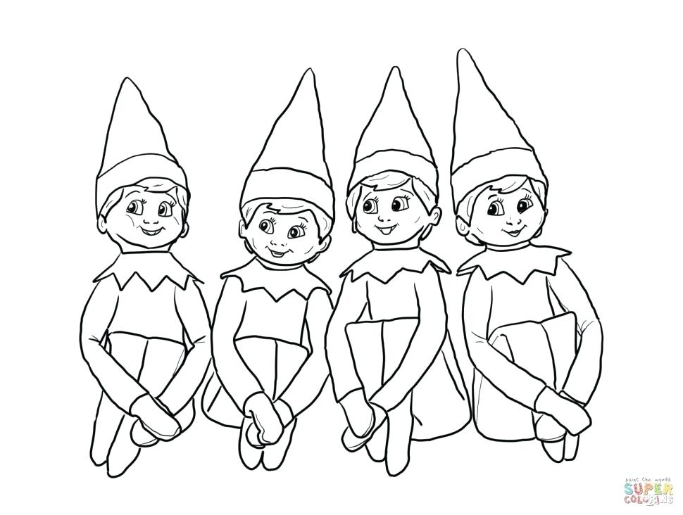 970x732 Elf Colouring Book Printable Coloring Coloring Elf On The Shelf