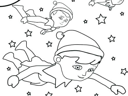 440x330 Elf On The Shelf Color Pages Stealth Elf Printable Coloring Pages