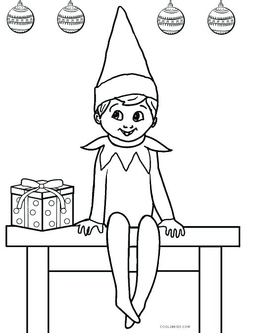 515x670 Elf On Shelf Coloring Page Elf Printable Coloring Pages