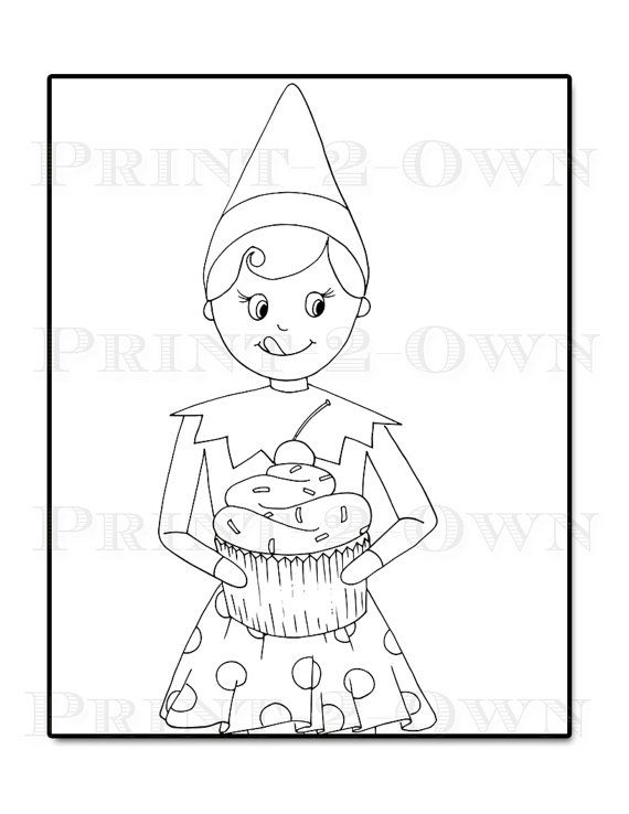 570x738 Girl Elf On The Shelf Coloring Pages