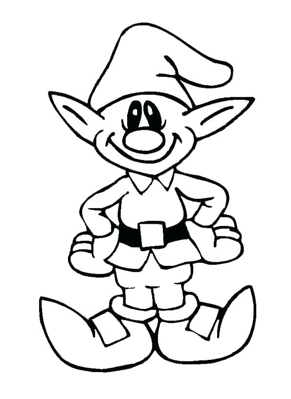 595x815 Elf Coloring Page Elf Coloring Pages Elf On Shelf Coloring Pages