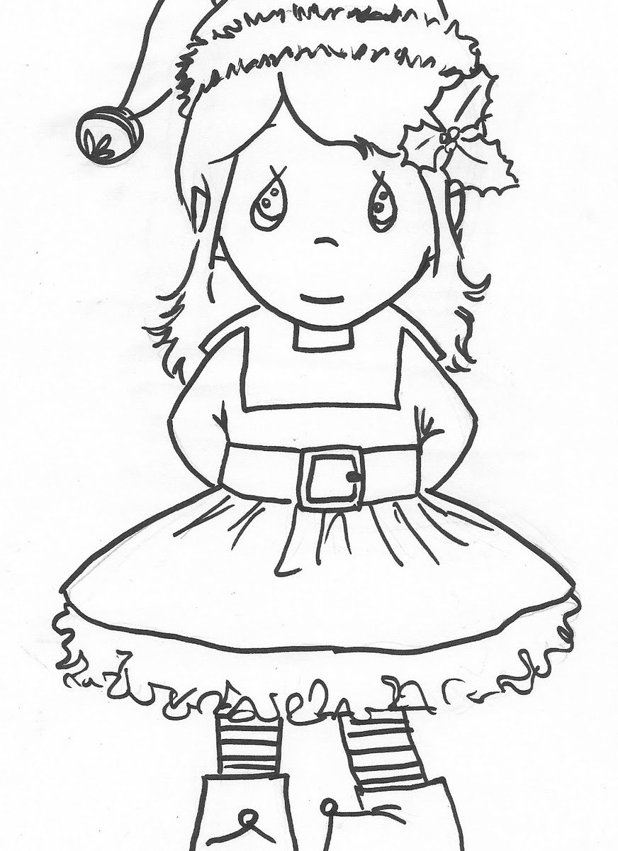 872x1200 Elf Coloring Pages Girl On The Shelf Pdf For Preschool Boy