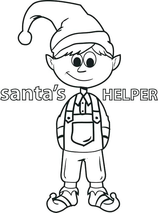 523x700 Elf The Shelf Coloring Pages Also Elf Coloring Pages Girl