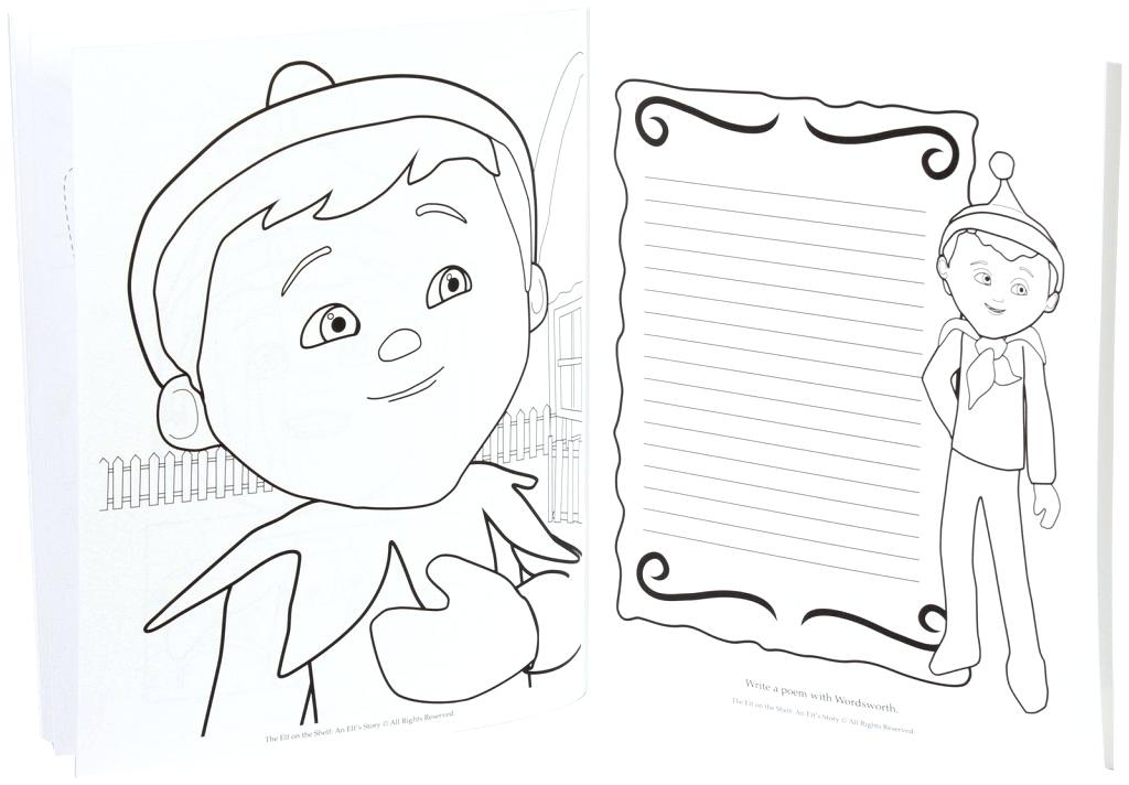 1024x712 Elf On The Shelf Girl Coloring Pages
