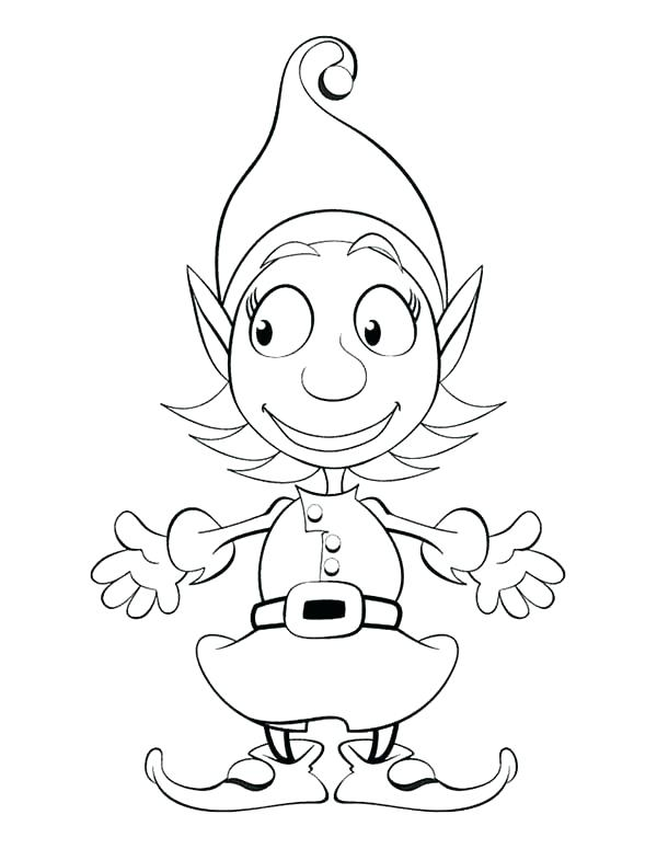600x775 Free Printable Elf Coloring Pages Elves Coloring Pages Free Elf