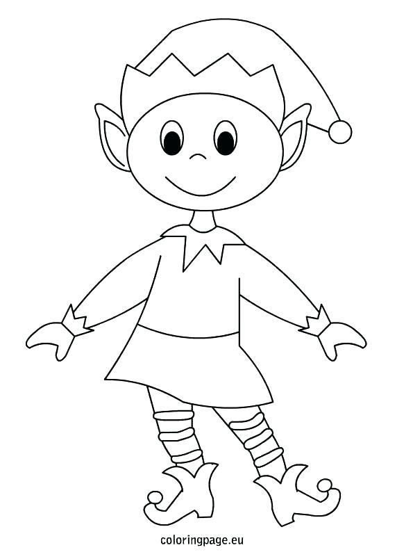 595x804 Coloring Pages Of Elves