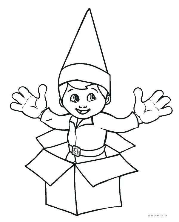600x742 Elf On The Shelf Printable Coloring Pages