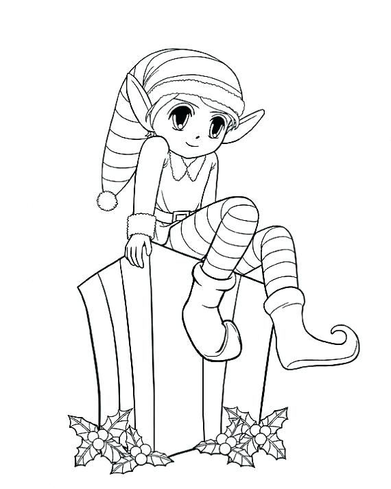 570x713 Elf Coloring Pages Elf Printable Coloring Pages Elf Coloring Pages