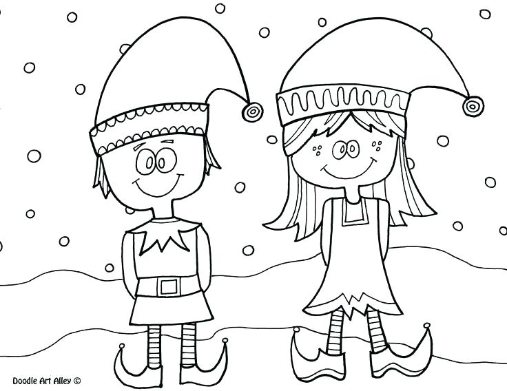 736x568 Elf Coloring Pages Funny Little Elf Coloring Page Elf Colouring