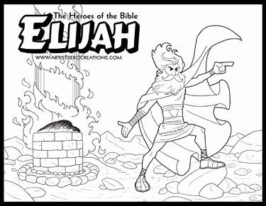 375x291 Elijah Coloring Pages For Sunday School Photograph Generous Elisha