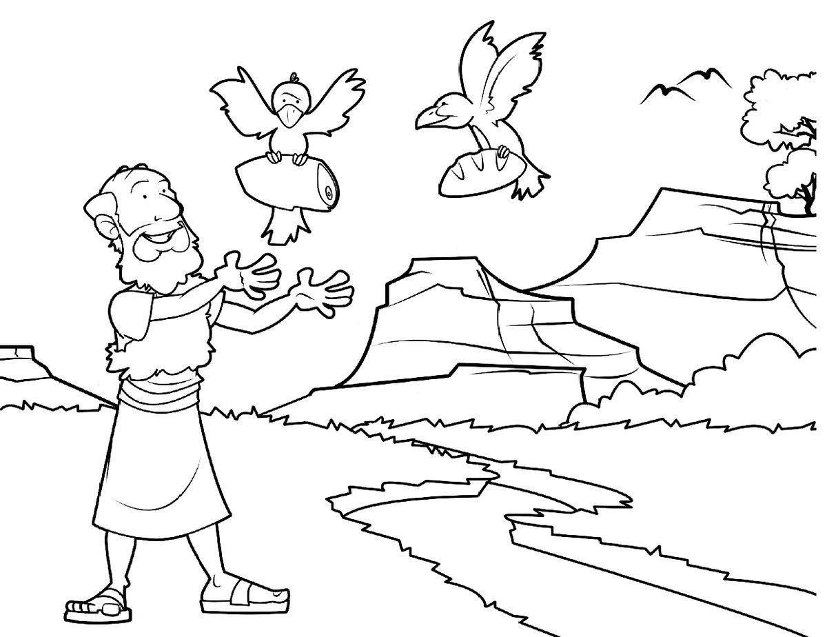 Elijahs Surprise Coloring Page