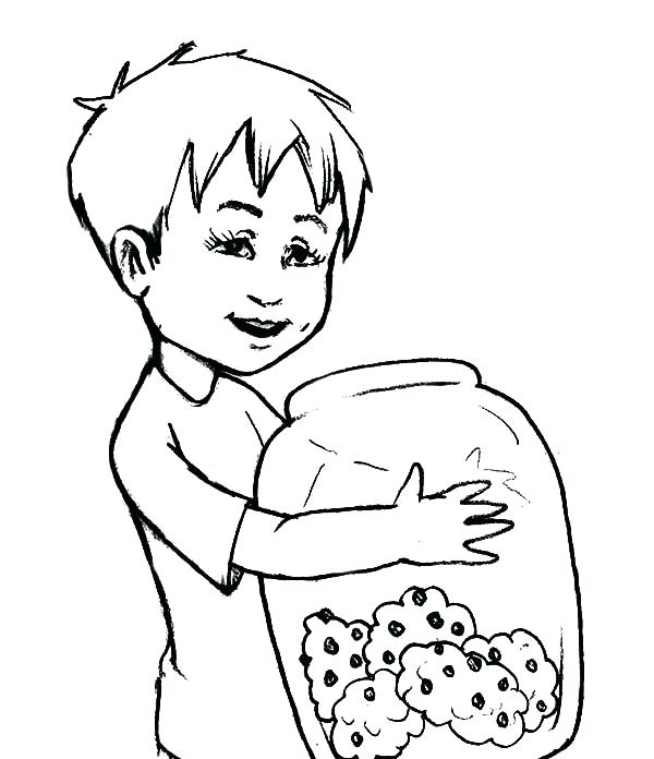 600x696 Elisha Coloring Pages Kid Hug Yummy Cookie Jar Coloring Pages