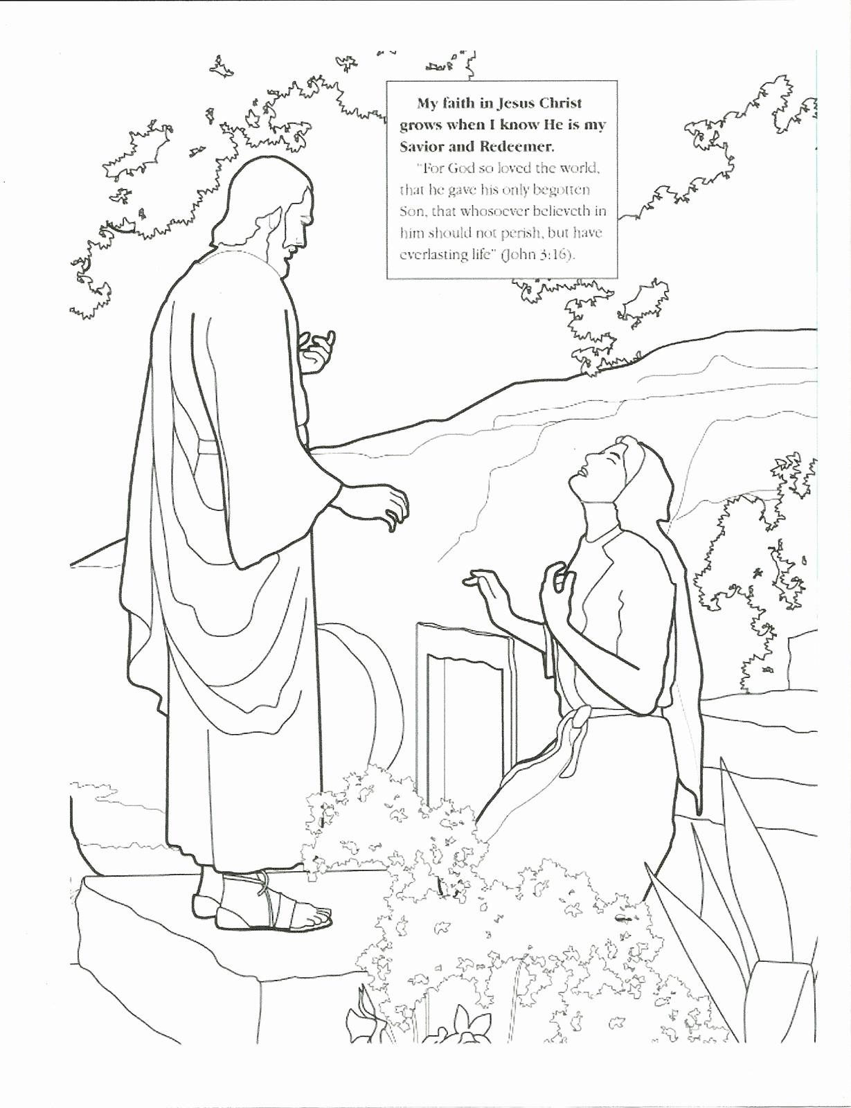 1229x1600 Jesus Coloring Pages Lds