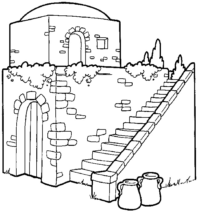 650x704 New Room Built For Elisha Coloring Page