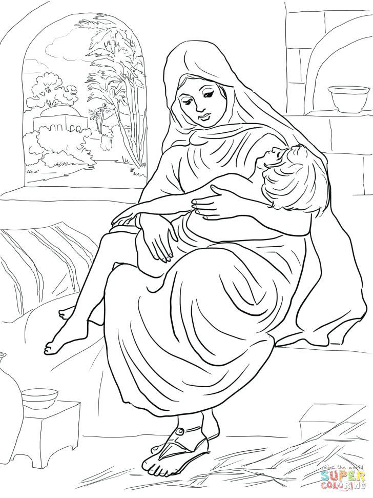 728x971 A Couple Helped Elisha Coloring Page A Couple Helped Elisha
