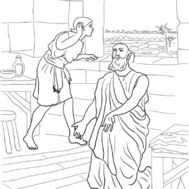 268x268 Bible Coloring Pages Elijah And Elisha Archives