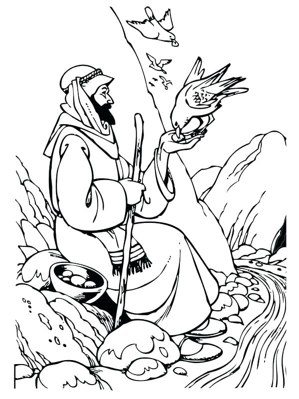 600x800 Elijah Coloring Page Coloring Page And The Widow Coloring Page