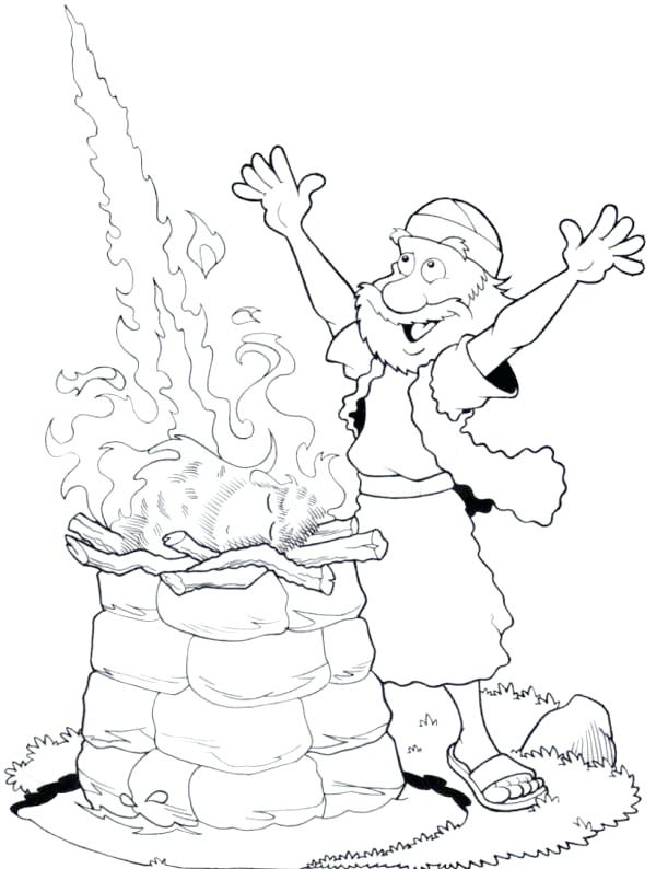 600x794 Elijah Coloring Page God Give Fire Coloring Pages God Give Fire