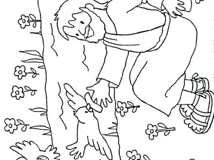 440x330 Elijah And The Widow Coloring Page And The Widow Coloring Page