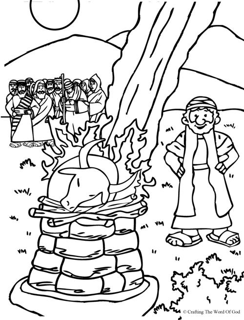 500x654 Elijah And Prophets Of Baal Coloring Page From Crafting