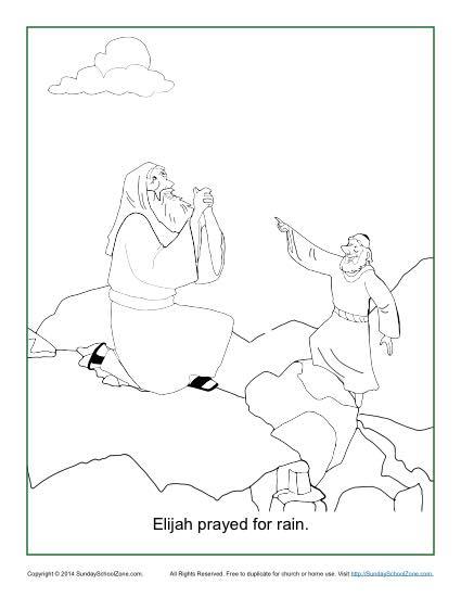 425x550 Elijah Prayed For Rain Coloring Page Rain, Sunday School