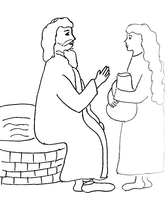 643x772 Bible Coloring Pages Elijah And The Widow