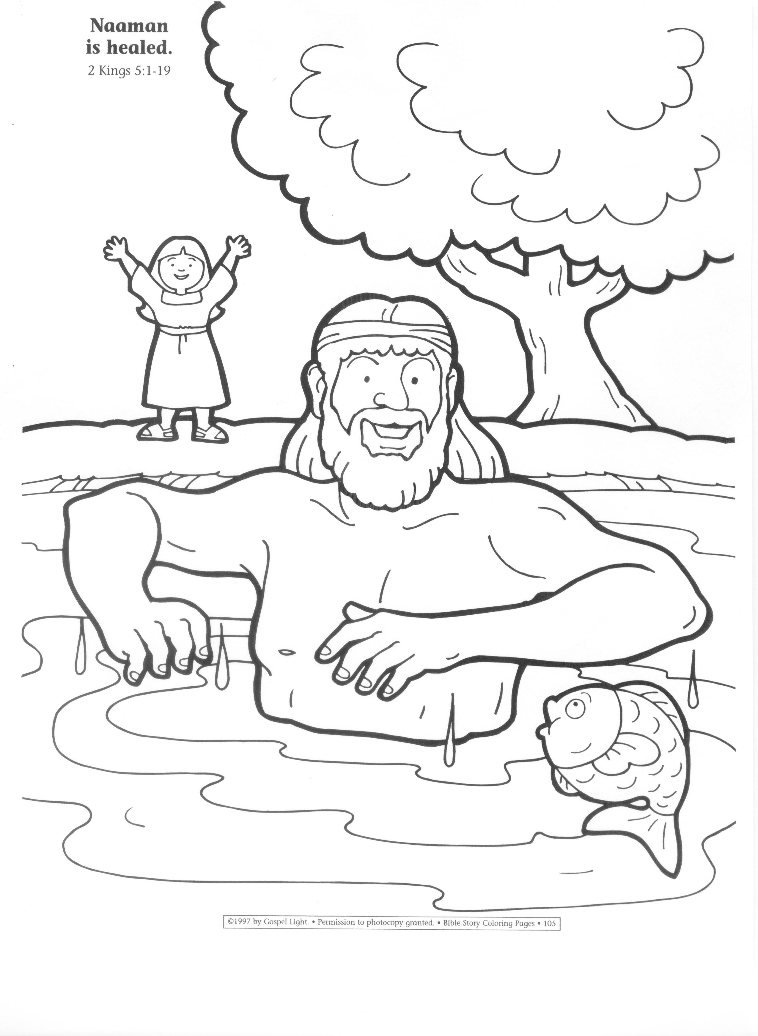 2550x3487 Elisha Naaman Coloring Page Murderthestout Lively Throughout