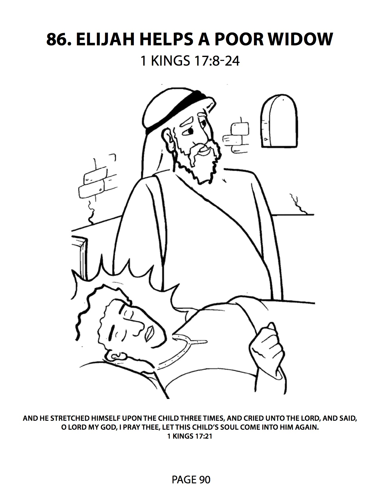 1275x1650 Monumental Elisha Helps A Widow Coloring Page Elijah And The Help