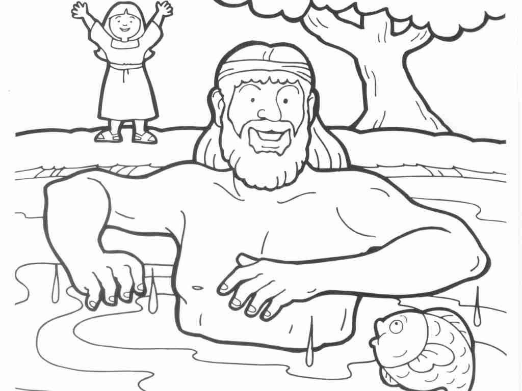 The best free Naaman coloring page images. Download from 8 ...
