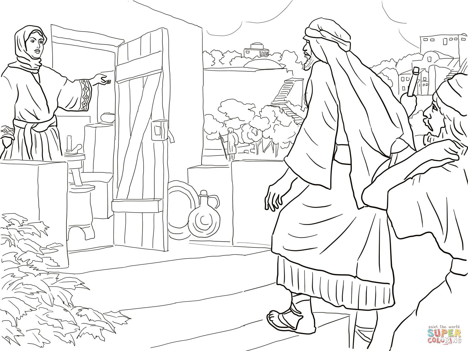 1600x1200 Prophet Elisha Coloring Pages Free Also And Naaman Page