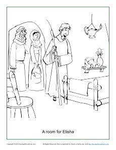 230x298 A Room For Elisha Coloring Page Sunday School, Room And Bible
