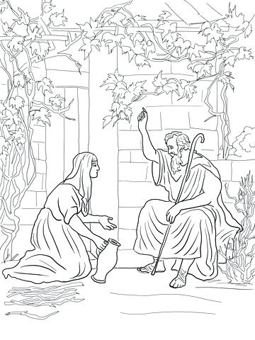 360x480 And The Widow Of Coloring Page Pattern And The Widow Of Coloring