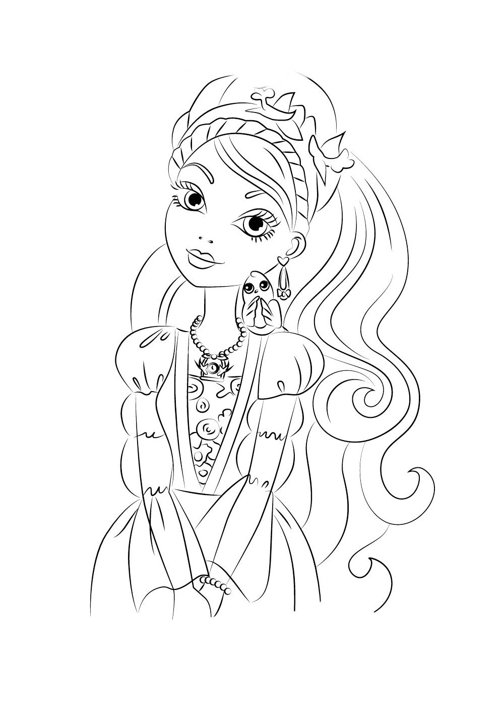 Ella Coloring Pages