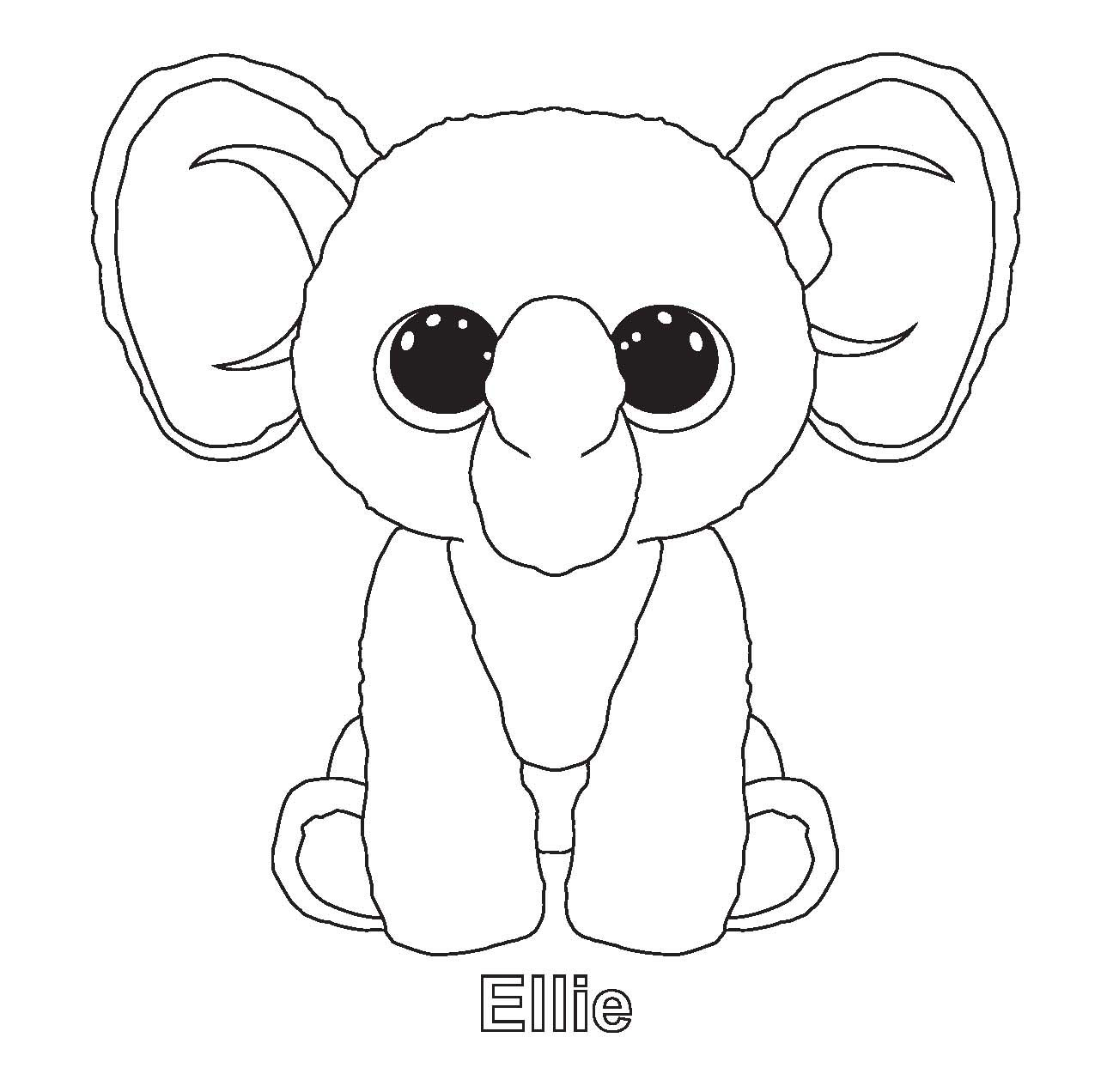 1289x1272 Ellie And Other Ty Beenie Boo Coloring Sheets Beanie Boo