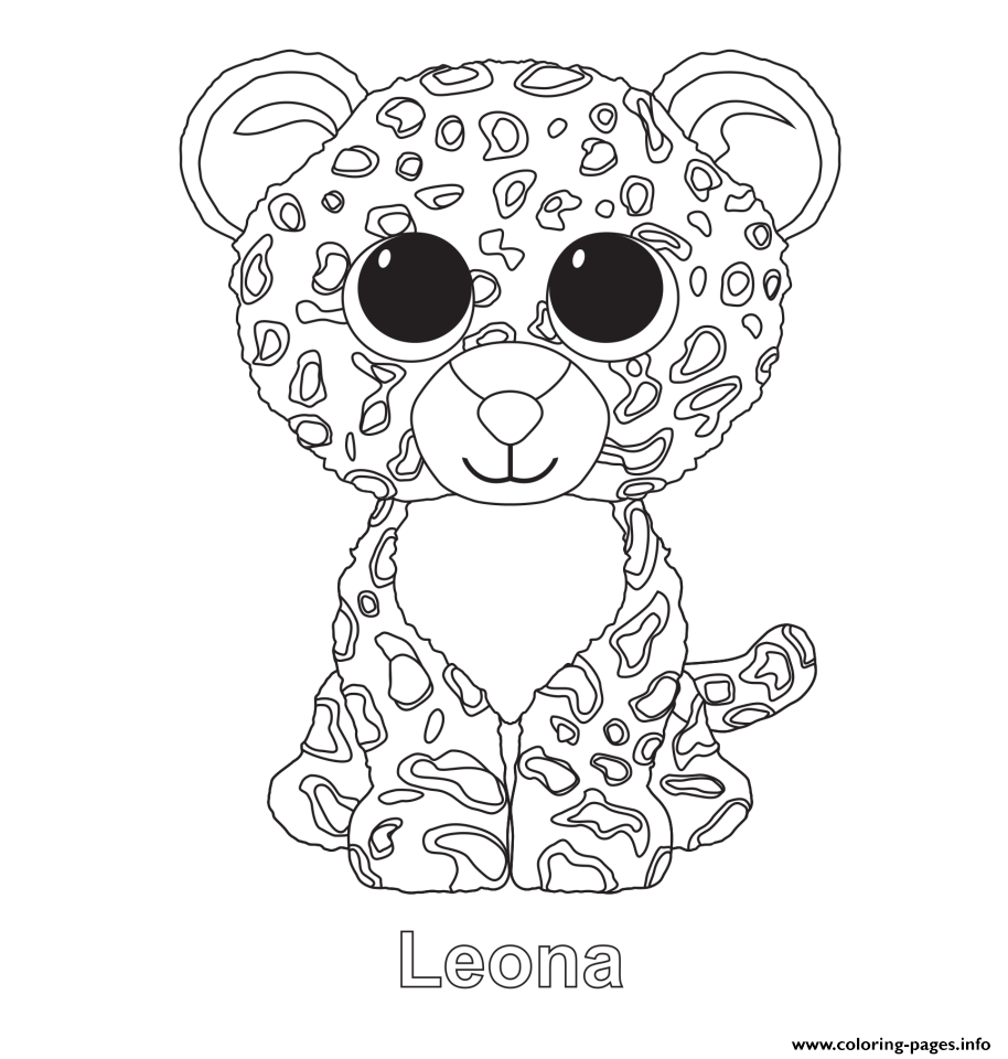 914x960 Print Leona Beanie Boo Coloring Pages Embroidery Patterns