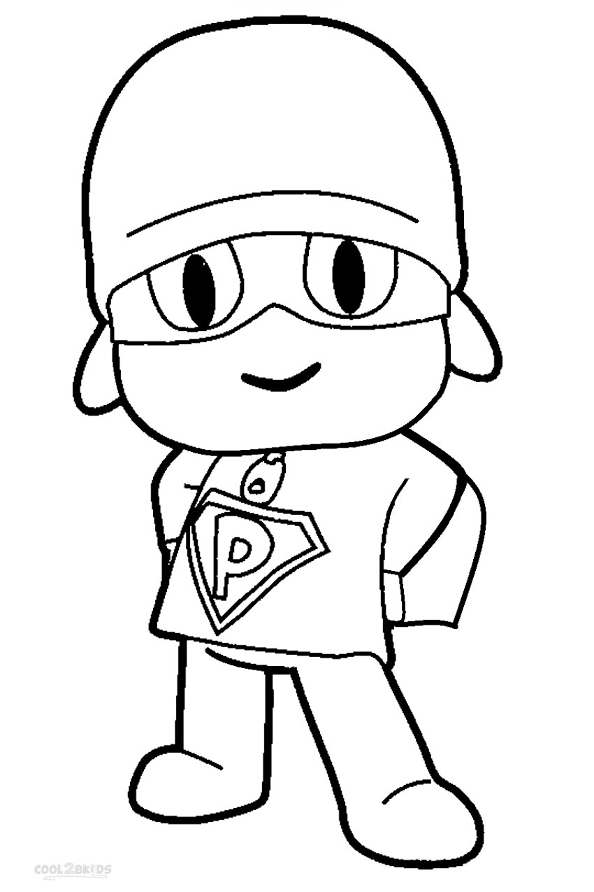 850x1275 Printable Pocoyo Coloring Pages For Kids