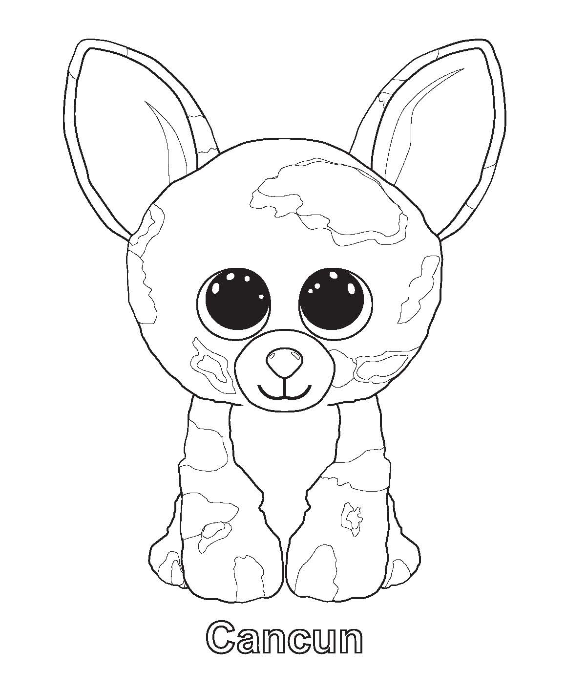1159x1418 Beanie Boo Coloring Pages Ellie Coloring