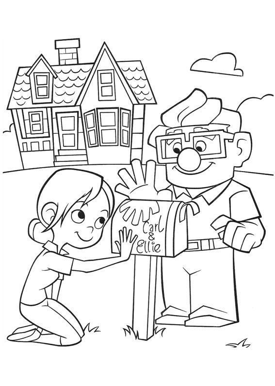 567x794 Up Coloring Pages For Kids Birthday Party Cool Ideas