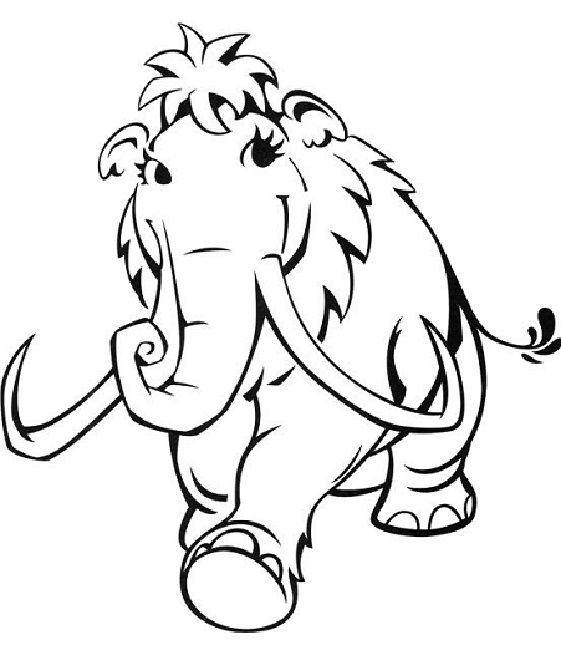 561x650 Ice Age Ellie Coloring Pages Cartoon Ice Age