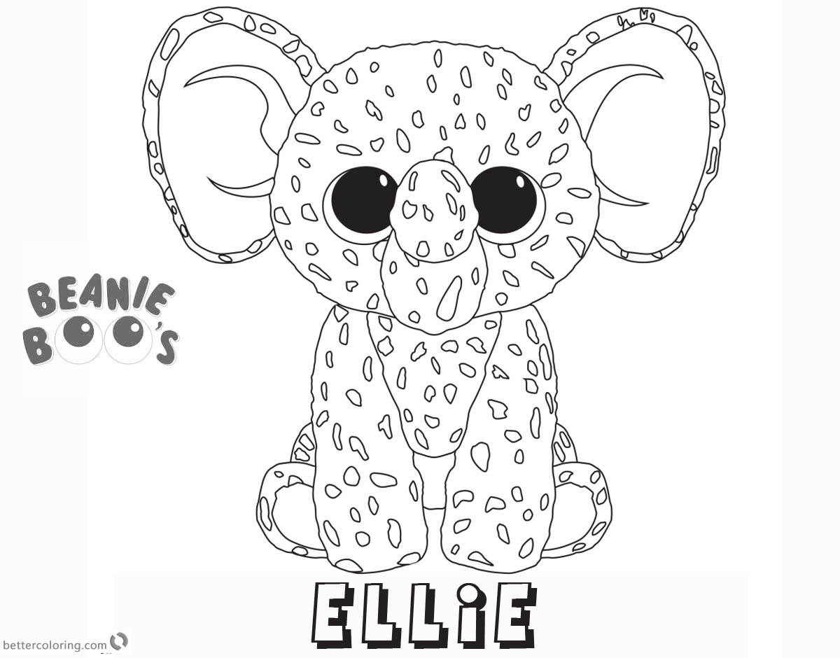 1200x940 Beanie Boo Coloring Pages Ellie