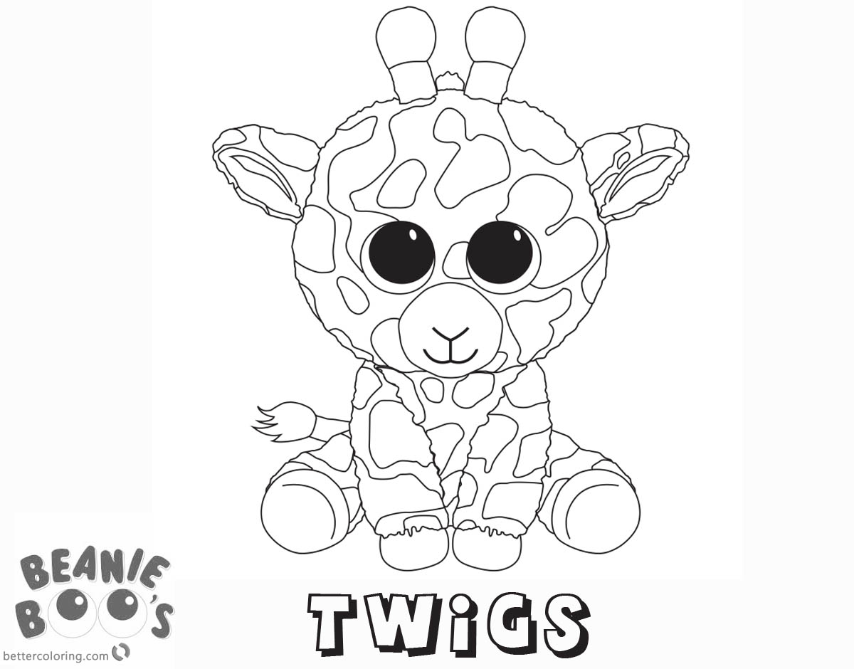 1200x940 Ellie Coloring Beanie Boo Pages
