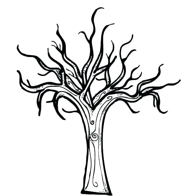 618x632 Bare Tree Coloring Page Together With Bare Tree Without Leaves