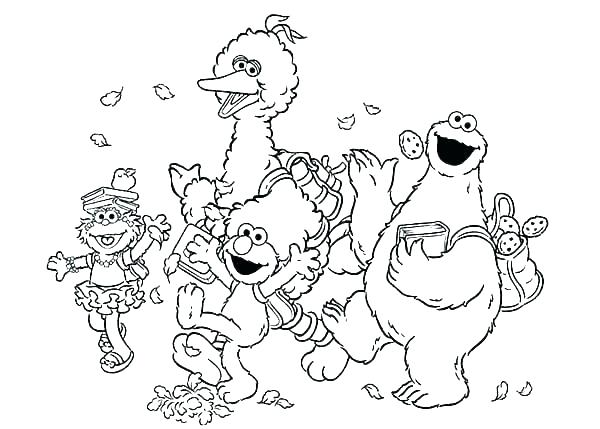 600x429 Cookie Coloring Page Cookie Coloring Page Trick Or Treat Elmo
