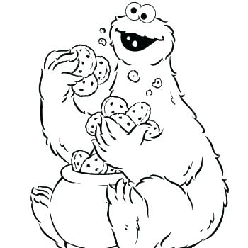 350x350 Cookie Monster Coloring Pages Cookie Coloring Page Cookie Monster