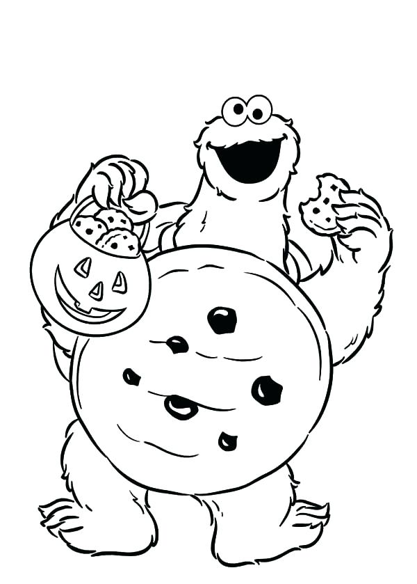 600x839 Cookie Coloring Page Kevmeyme Cookie Coloring Page Trick Or Treat