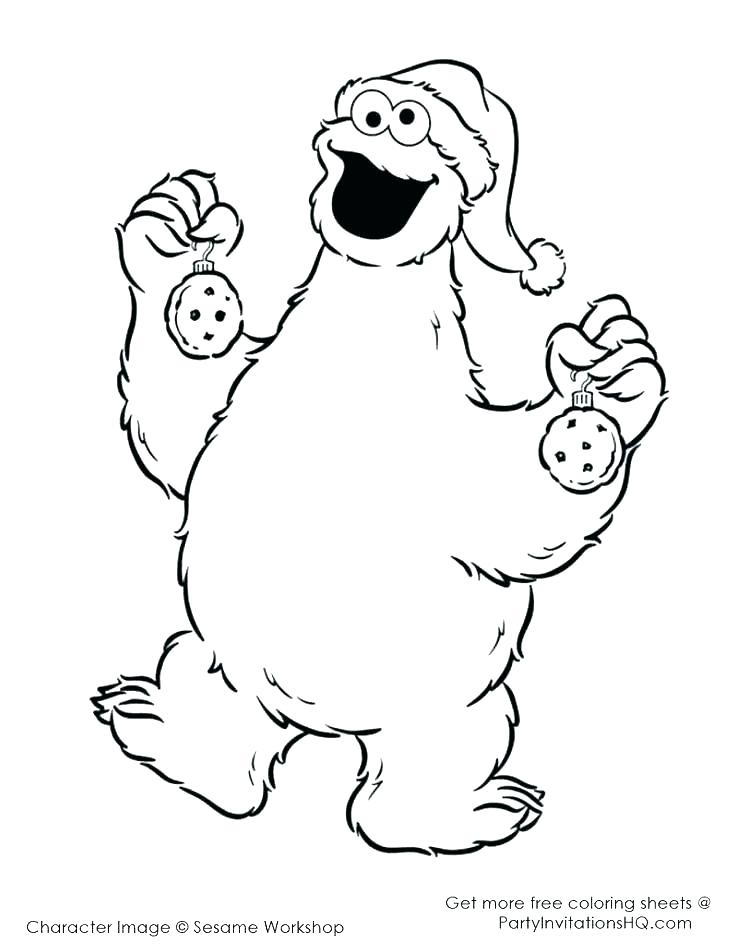 736x952 Elmo And Cookie Monster Coloring Pages To Print Page Sugar Free