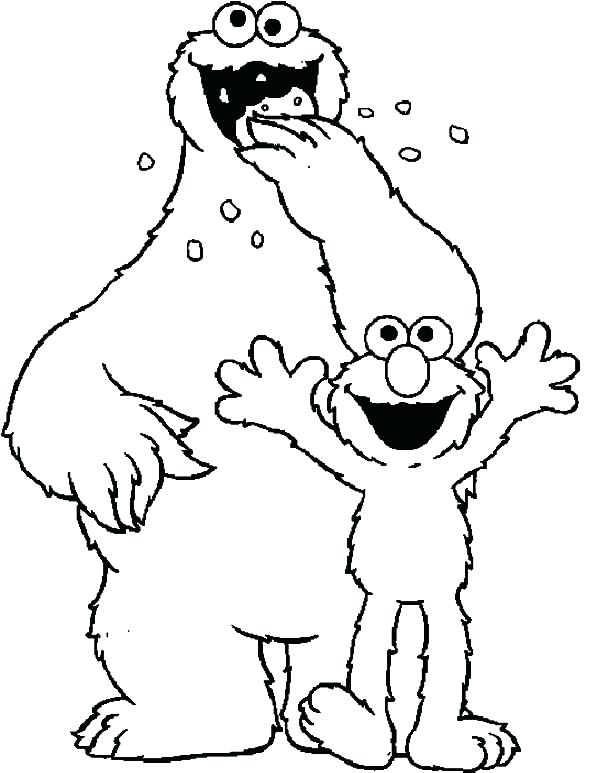 600x773 Elmo Coloring Page Cookie Monster And Coloring Pages Free