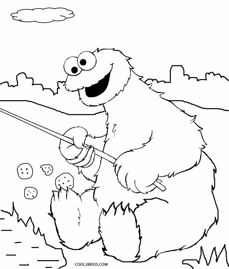 750x883 Printable Cookie Monster Coloring Pages For Kids