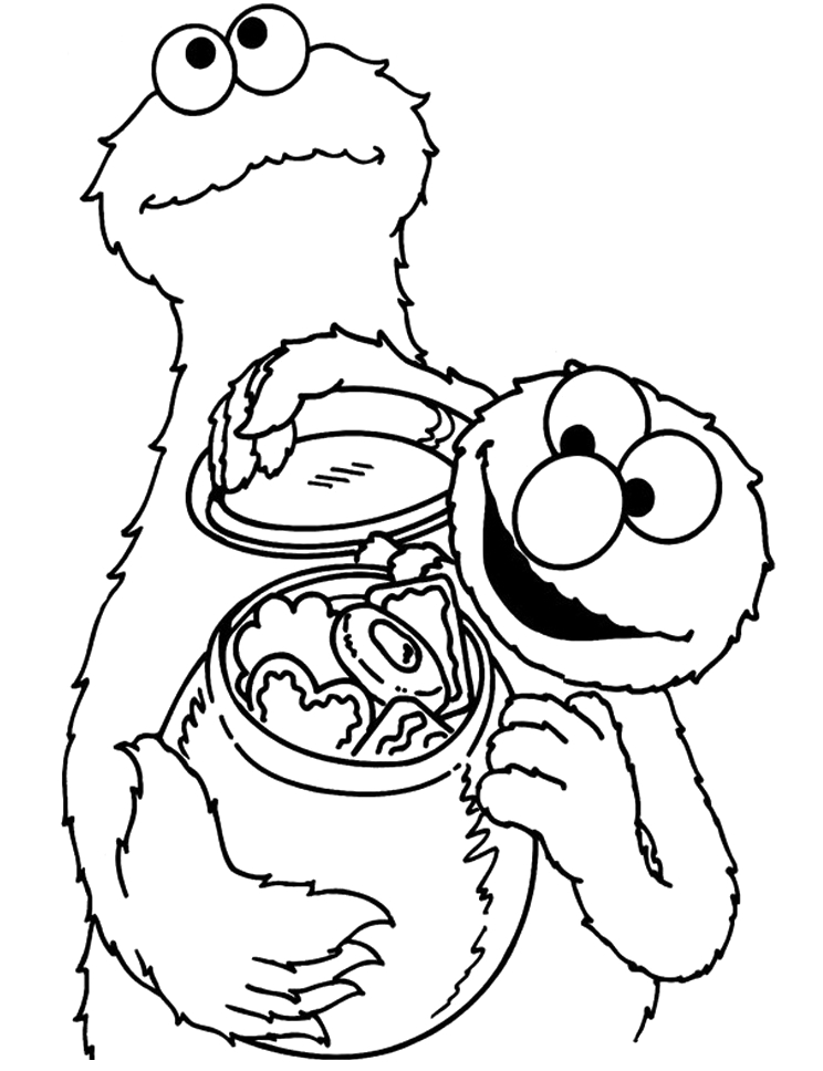 744x968 Cookie Monster Coloring Book Cookie Monster Coloring Pages